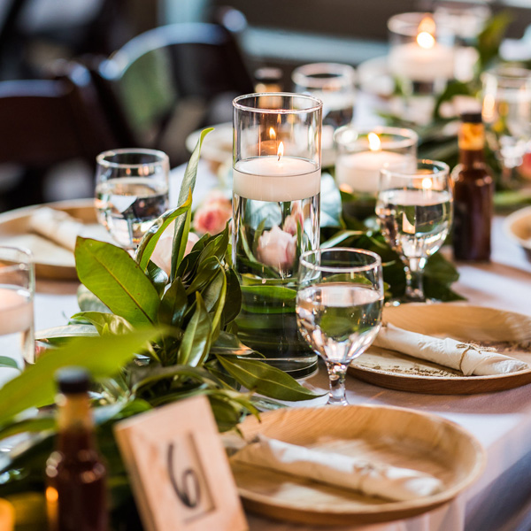 Bee Inspired Events - Mississippi Southern theme with magnolias and pink roses runners