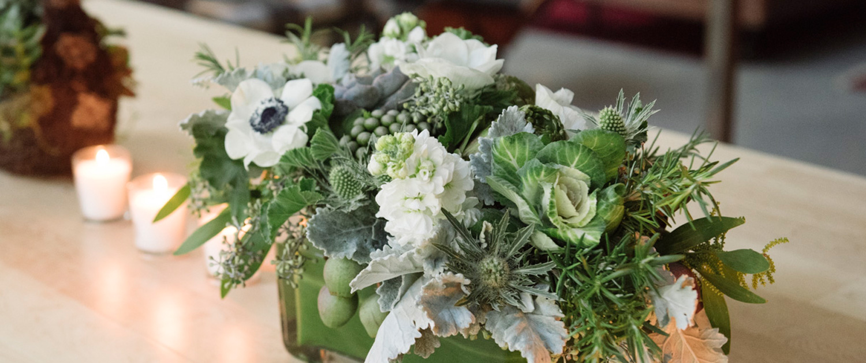 Bee Inspired Events - Veggie & garden inspired arrangements